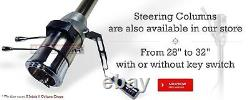 28 Chrome Stainless Tilt Steering Column Floor Shift NO Ignition KEY Street Rod