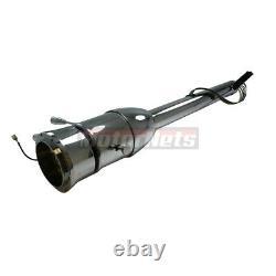 32 Chrome Stainless Tilt Steering Column No Key Floor Shift Chevy GM Hot RatRod