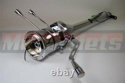 32 Chrome Stainless steel Automatic Tilt Steering Column Shift No IgnitionKeyGM