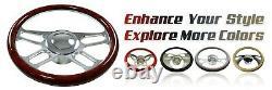 32 Universal Chrome Stainless Tilt Steering Column Floor Shift No Ignition KEY