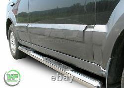 3 Side bars CHROME stainless steel side steps pair for Kia Sorento mk1 2002-09