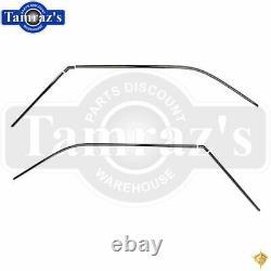 67-69 F-Body Chrome Stainless Roof Drip Rail Trim Molding Set 6pc Golden Star