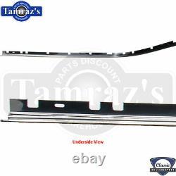 70-81 F-Body METAL Chrome Stainless Roof Drip Rail Rain Gutter Trim Molding set