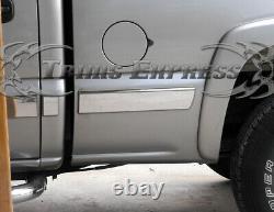 99-02 Chevy Silverado Crew Cab Short Bed Chrome Body Side Molding Trim Overlay