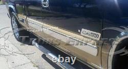 99-02 Silverado/Sierra 4Dr Extended Cab Short Bed Body Side Molding Trim Overlay
