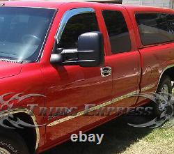 99-2006 Silverado/Sierra 4Dr Extended Cab Short Bed Flat Body Side Molding 2