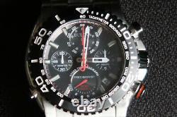 Bulova Precisionist Chronograph 98b212 Mens Watch Black Dail & Stainless Steel