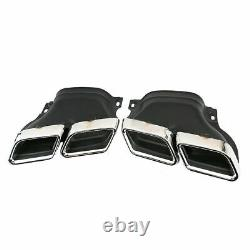Car Exhaust Tips for Mercedes Benz W222 W212 W205 Stainless Steel Muffler Pipe
