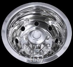 Chevy 3500 16 Dual Steel Wheel Simulators Dually 8 Lug Rim Skins Liners Covers