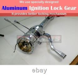 Chrome Stainless 28 Automatic Tilt Steering Column Shift No Ignition Key GM Rod