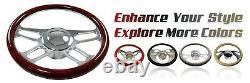 Chrome Stainless 30 Tilt Steering Column Floor Shift NO Ignition GM Hot rod