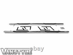 Citroen Dispatch 16 L2 Mwb L3 Lwb Polished Chrome Stainless Side Bar Steps Step