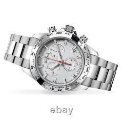 Davosa Quartz Speedline Silver Dial Stainless Steel Wrist Watch