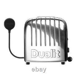 Dualit Vario Classic 2 Slice Toaster 28mm Wide Slots Stainless Steel Polished