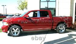 Fit09-2018 Dodge Ram Crew Cab Pillar Post+Window Sill Trim Combo 8Pc Stainless