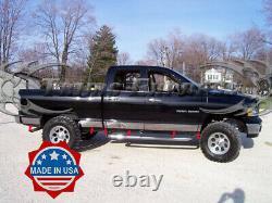 Fit2002-2008 Dodge Ram Quad Cab Long Bed Rocker Panel Trim Molding 5.5 12Pc
