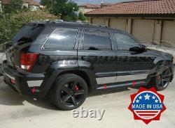 Fit2005-2010 Jeep Grand Cherokee Laredo Rocker Panel Trim Side Molding 6Pc 7