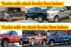 Fit2005-2011 Dodge Dakota Quad/Crew Cab Short Bed Rocker Panel Trim 12Pc 5 3/4