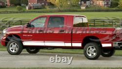 Fit2006-2008 Dodge Ram Mega Cab Short Bed Rocker Panel Trim Cover 6 12Pc