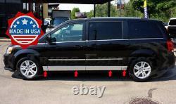 Fit2008-2020 Dodge Grand Caravan Rocker Panel Trim Body Side Molding 5 1/2 8Pc