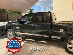 Fit2009-2018 Dodge Ram Crew Cab 6.4' Short Bed N/F Rocker Panel Trim 12Pc U