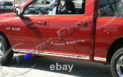 Fit2009-2018 Dodge Ram Crew Cab 6.4' Short Bed N/F Rocker Panel Trim Molding L