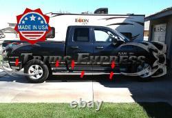 Fit2009-2018 Dodge Ram Quad Cab 6.4' Short Bed Rocker Panel Trim N/F 3 1/8 L