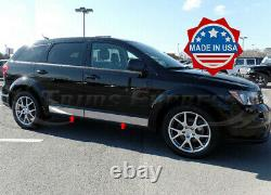 Fit2009-2020 Dodge Journey Rocker Panel Trim Body Side Molding Cover 4.5 4Pc