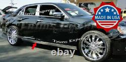 Fit2011-2019 Chrysler 300 300C Extreme Lower Rocker Panel Trim Stainless 2Pc