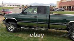 Fit98-2001 Dodge Ram 4 Door Extended /Quad Cab Long Bed Rocker Panel Trim 8.5
