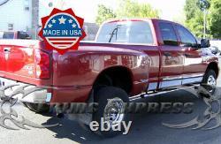 Fit 2002-2008 Dodge Ram Quad/Crew Cab Dually Long Bed Rocker Panel Trim 6 12Pc