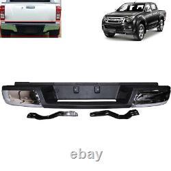 Fit Isuzu D Max D-Max 2012-2015 Chrome Rear back Step Bumper stainless steel