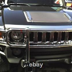 Fits 06-10 Hummer H3 Stainless Steel SS Front Brush Grill Guard Polished Chrome