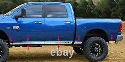 Fits 2009-2018 Dodge Ram Quad Cab 6.5' Bed Rocker Panel Trim Lower Stainless WF