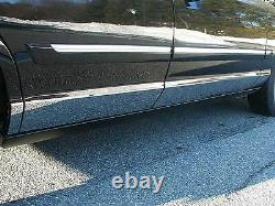Fits Mercury Grand Marquis 1992-2011 Stainless Steel Chrome Rocker Panel 8pcs