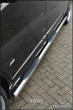 Fits Nissan Primastar 01-14 76mm Lwb 3 Steps Side Bars Stainless Steel Chrome
