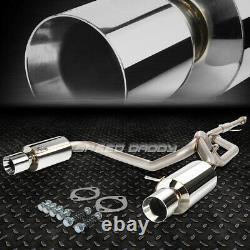 For 03-06 Gk F/l Tiburon V6 Dual 4rolled Muffler Tip Stainless Catback Exhaust