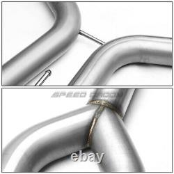 For 04-08 Maxima V6 Dual 4 Rolled Muffler Tip Stainless Racing Catback Exhaust