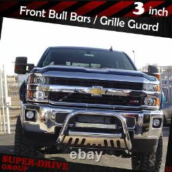 For 2007-2019 TOYOTA TUNDRA Front Bumper Skid Plate Bull Bar 3 Stainless Steel