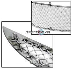 For 2011-2014 200 Upper + Bumper Stainless Steel Mesh Grille Insert Combo