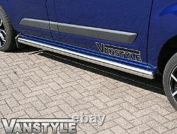 Ford Transit Custom Euro 6 76mm Lwb Side Bars Stainless Steel Chrome Polished
