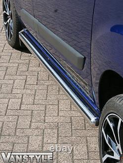 Ford Transit Custom Euro 6 76mm Swb Side Bars Stainless Steel Chrome Polished