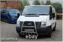 Ford Transit High A Bar Bull Nudge 2007-13 Polished Stainless Steel Chrome A-bar