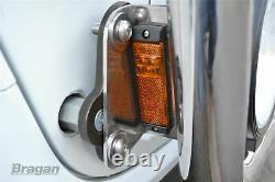 Grill Bar + Side LEDs For MAN TGA Chrome Stainless Steel Front Truck Lamps Light