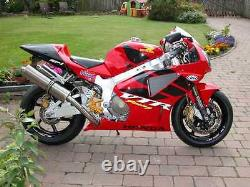 HONDA VTR1000 SP1 RVT1000R RC51 Stainless round Road Legal Motorbike Exhaust Can