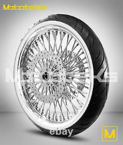 Harley Fat Spoke Wheel 21x3.5 Dna Stainless Spokes For Touring Bagger USA Built