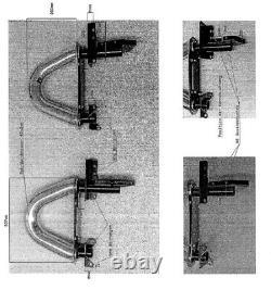 JOM stainless steel chrome finish roll bar roller holder for MERCEDES SLK R171