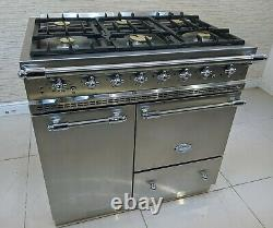 Lacanche Bussy 90cm Dual Fuel In Stainless Steel & Chrome Range Cooker A493