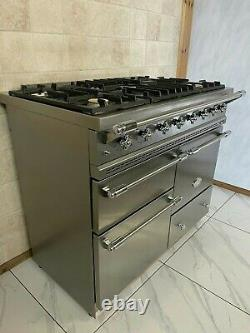 Lacanche Macon 100cm Dual Fuel Range Cooker In Stainless Steel& Chrome