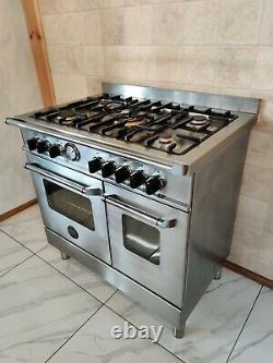 Lpg Bertazzoni 90cm Range Cooker In Stainless Steel And Chrome. Ref-f139